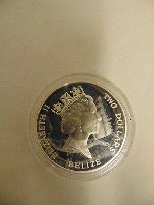 Stunning, Collectable, 2 Dollar, Belize, 1993 Sterling Silver Crown