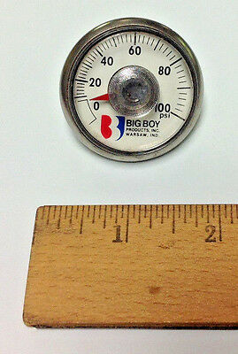 "NEW AIR PRESSURE GAUGE (0-100 PSI), 1/8"" NPT, Back Mount, 1-1/2"" face USA MADE!"