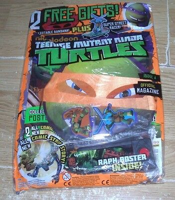 Teenage Mutant Ninja Turtles magazine #4  + Street Racer Toy & Orange Bandana