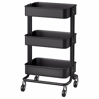 Ikea Raskog Kitchen Trolley Island - Black (Castors, Shelves, Storage, Bathroom)
