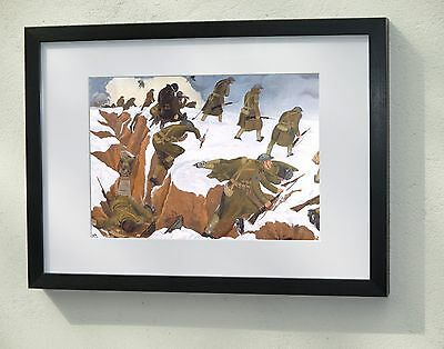 Framed and Mounted print - John Nash 'Over the top' 1918 WW1