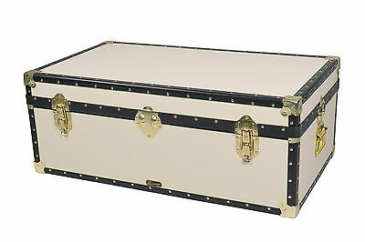 "British Mossman Made Boarding Short 36"" Steamer Size Coffee Table Storage Trunk"