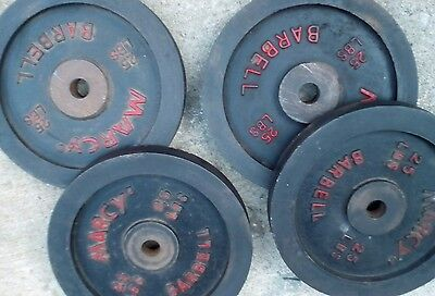 2 (two)VINTAGE MARCY 25 LBS each BARBELL  two sets of 2 each set sold separately