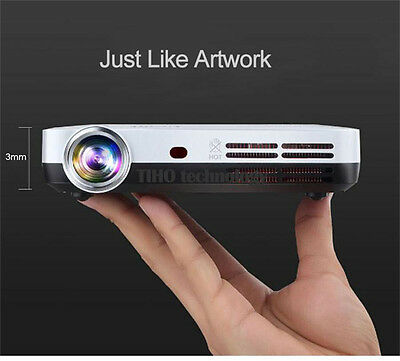D900 Pico Projector DLP 3D Android4.4 Home Theater Wireless sync iphone samsung