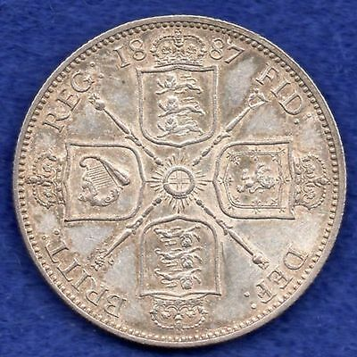 Great Britain, Victoria, 1887 Jubilee Head Florin, Better Grade (Ref. c2867)