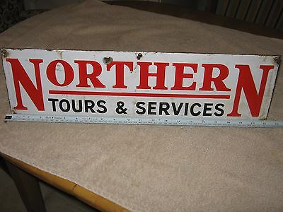 Vintage Enamel Transport Sign