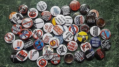 Ant Fracking 1 Inch / 25Mm  Button  Badges  X 60 - Protest Countryside Frack Off