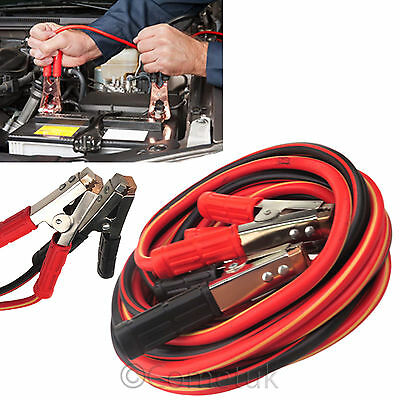 Heavy Duty 800AMP Booster Cable Car Van Long Start Jump Leads 6M Lead Copper UK