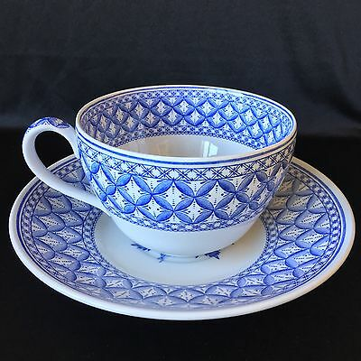 Spode Blue room Collection Geranium Large 1.25 Pint Cup And Saucer