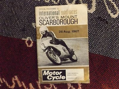 1967 Olivers Mount Motor Cycle Programme 26/8/67 - International Road Races