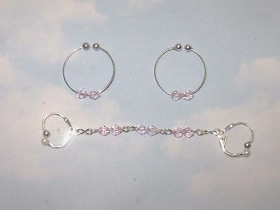 The   Soft Lady  Non Piercing Nipple Rings  &  Double Body  Adornment  Set