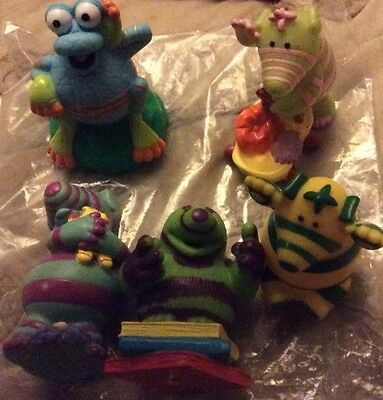 BUNDLE MATTEL 2003 FIMBLES TOYS  HARD PLASTIC FIGURES 3 INCHES TALL  5 Rare