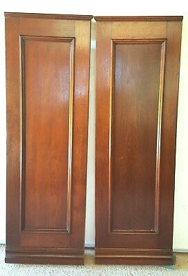 Two Antique Mahogany Fireplace Columns Posts  Architectural Accent Pieces