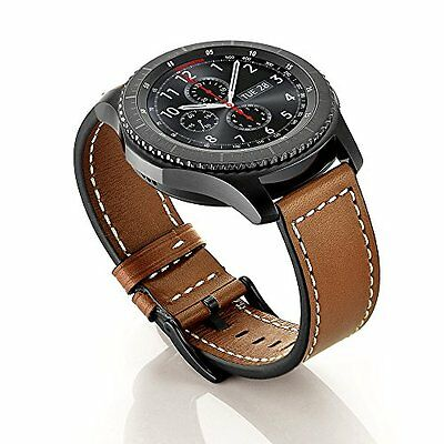 Gear S3 Band Watch Classic Genuine Leather Bracelet Wrist Strap Frontier Brown