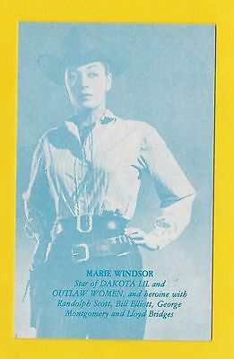 Actresses - Postcard Sized Card - Westerns / Cowboy Films  -  Marie  Windsor