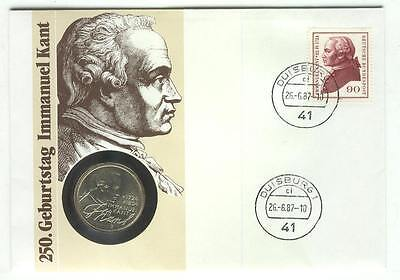 Coin 104 Cover 1987 Germany 5 Mark Immanuel Kant
