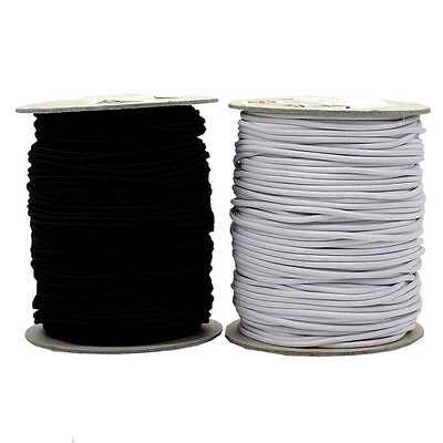 Round Cord Elastic - Black - 1mm, 2mm, 3mm in Various Lengths