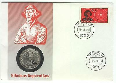 Coin 110 Cover 1988 Germany Copernicus
