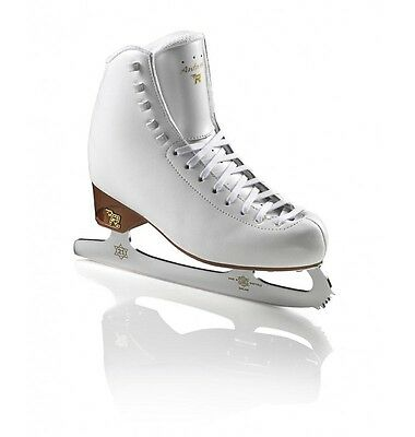 Risport Antares junior Figure Skates White COMPLETE WITH BLADES - Free Postage
