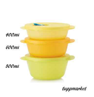 TUPPERWARE Crystalwave Micrawave Reheatable Food On The Go Bowls New color