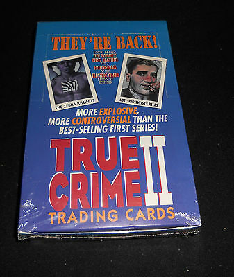 1992 True Crime Series 2 Trading Cards Factory Sealed Wax Box