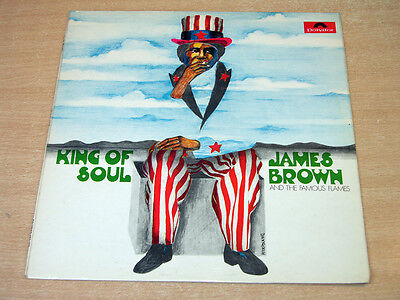 EX/EX- !! James Brown & The Famous Flames/King Of Soul/1968 Polydor Stereo LP