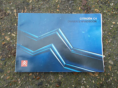 Citroen C4 Mk1 Models 2004 - 2010 Owners Manual / Hand Book
