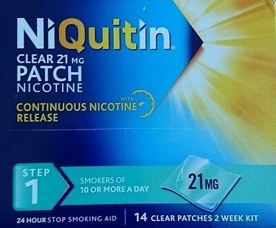 NiQuitin Step 1 - 21mg - 14 Day Supply x2 boxs 28 patches
