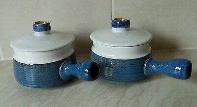 Denby Chatsworth lidded soup bowl x2