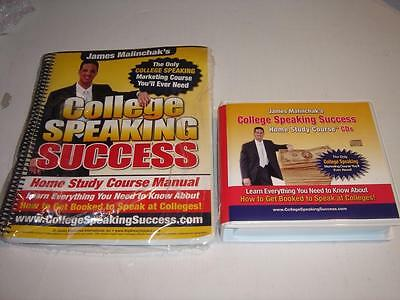 James Malinchak COLLEGE SPEAKING SUCCESS Home Study Course 12 CD +Manual NEW HTF