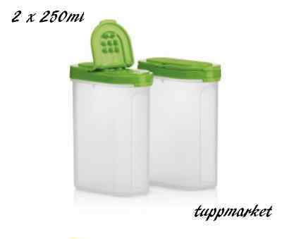 TUPPERWARE Modular Spice Shakers 2 x 250ml Special Offer
