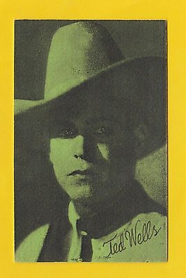Actors - Postcard Sized Card - Westerns / Cowboy Films  -  Ted  Wells