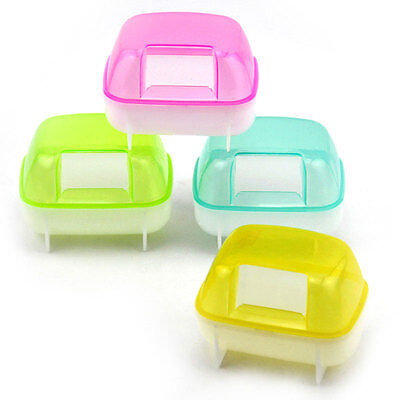 Small Animal Hamster Sauna Sand Bath Room Bathing Potty Toilet Plastic
