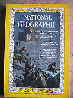 NATIONAL GEOGRAPHIC Mag December, 1963 - FIRST CRUSADE TO THE HOLY LAND - No Map