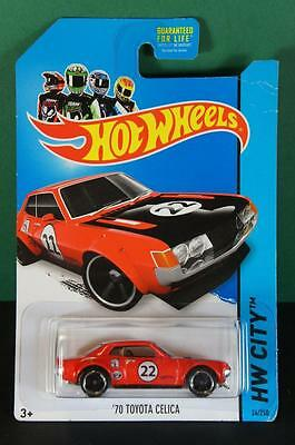 Hot Wheels long card City red '70 Toyota Celica 2014 24/250