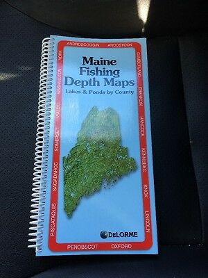 Delorme Maine Fishing Depth Maps (2015) NO LONGER MADE