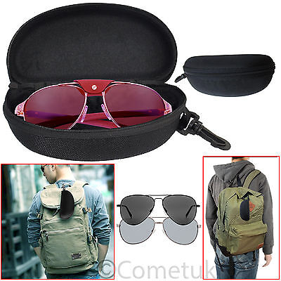 Portable Sunglasses Reading Glasses Carry Case Bag Hard Zipper Box Travel Pouch