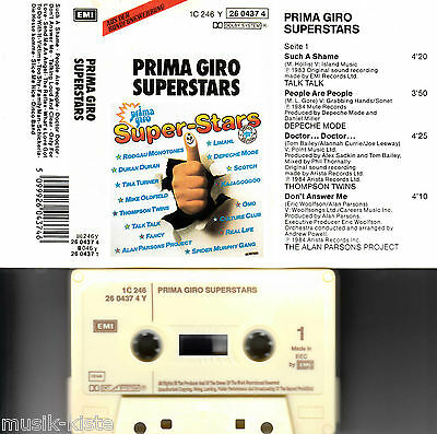 V.A. - Prima Giro Superstars *Depeche Mode,Talk Talk,Fancy★ MC Musikkassette