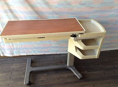 Hillrom Patient Mate Over The Bed Table With Side Caddy Very Good