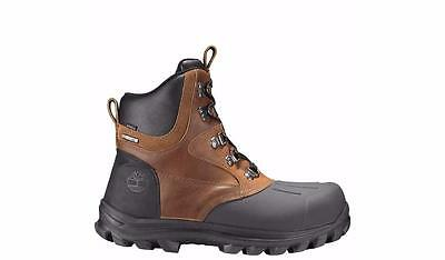 Timberland Chillberg Mid Shell-Toe Waterproof Duck Boots Tb0A185T Brown/black