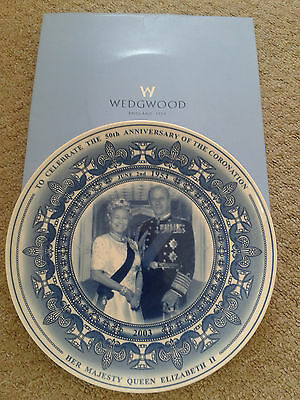 Wedgewood Plate - 50th Anniversary Of The Coronation - Queen Elizabeth II