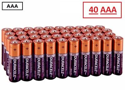(40 Pack) Duracell AAA 1.5v Alkaline Batteries (Exp 2027)