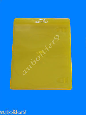 Boitier Blu Ray Simple Couleur Jaune  ***** Neuf