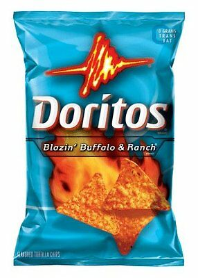 DORITOS Blazin' Buffalo & Ranch Tortilla Chips FAST SHIP