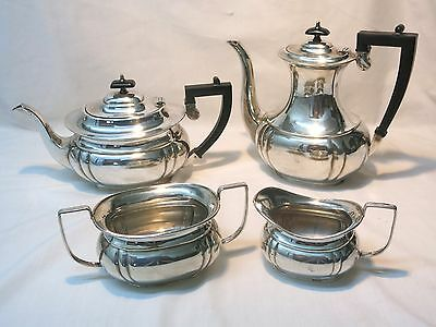Sheffield, England Silverplate Coffee Tea Service Lewis Rose & Co. Early 20th C.