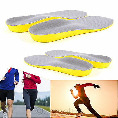 Orthotic Shoe Insoles Arch Support Heel Pain Cushion Fasciitis Plantar Pronation