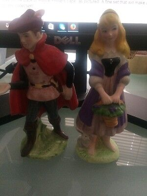 Disney Sleeping Beauty & Prince Phillip Figurines Japan