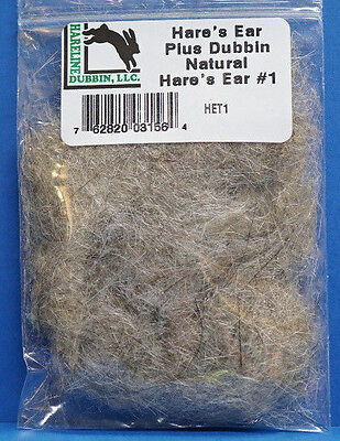 Hare´s Ear Plus Dubbing Hase, Guard Hairs & Antron HET1 NATURAL HARE´S EAR