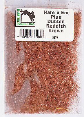 Hare´s Ear Plus Dubbing Hase, Guard Hairs & Antron HET5 REDDISH BROWN