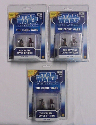 Star Wars The Clone Wars The Crystal Caves of Ilum 3 Pc Lot NEW Sealed